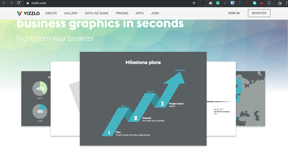 vizzlo - Create charts & business infographics online