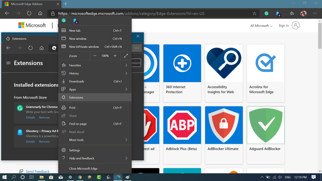 How to Install Extension on Edge Chromium from Microsoft Edge Addons