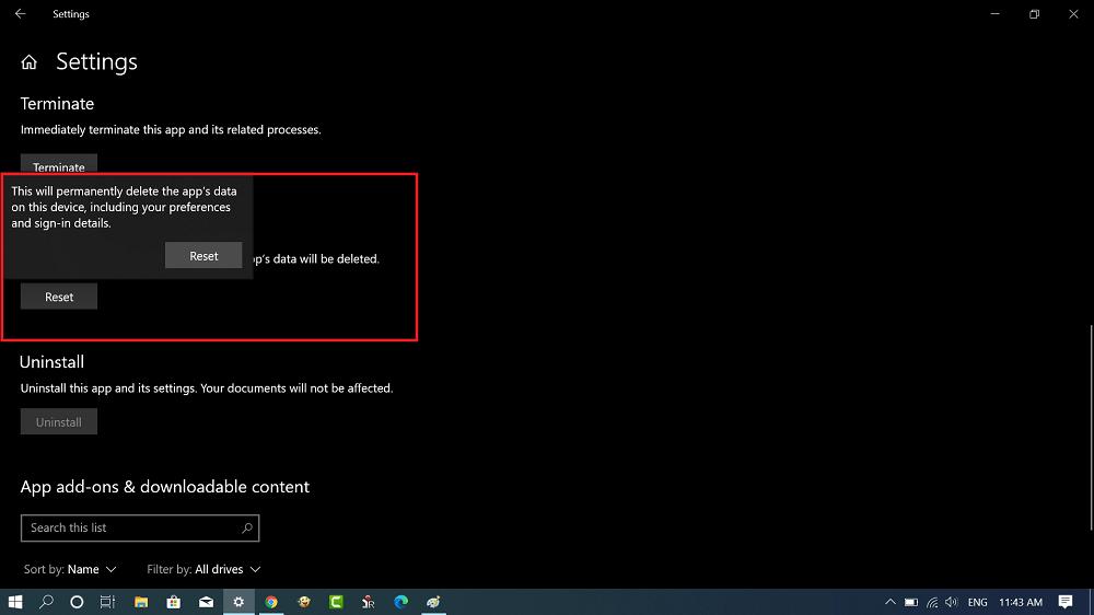 advanced settings app for settings app in windows 10