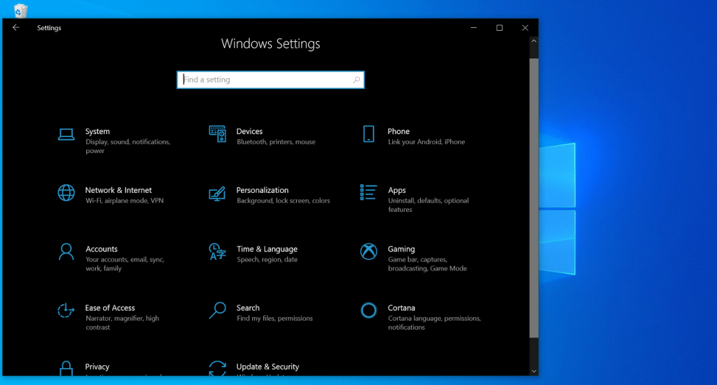How to Reset Settings app in Windows 10