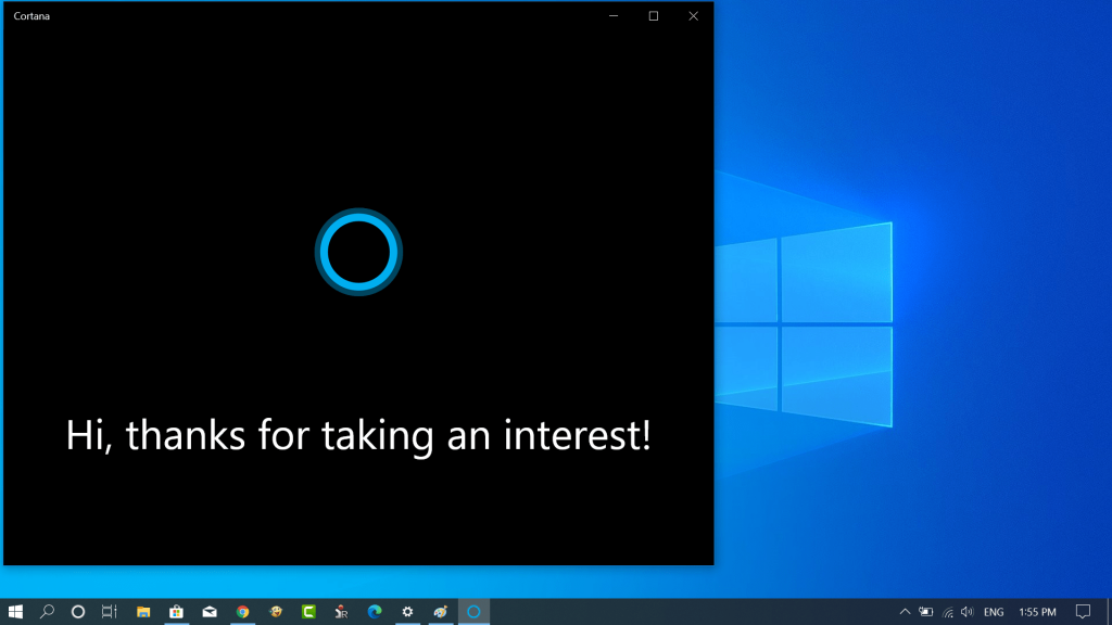 Download New Cortana App from Windows 10 2004