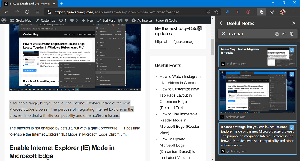 edit collection in microsoft edge