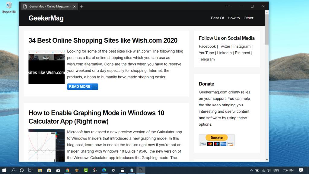 How to Enable Focus Mode in Microsoft Edge Chromium