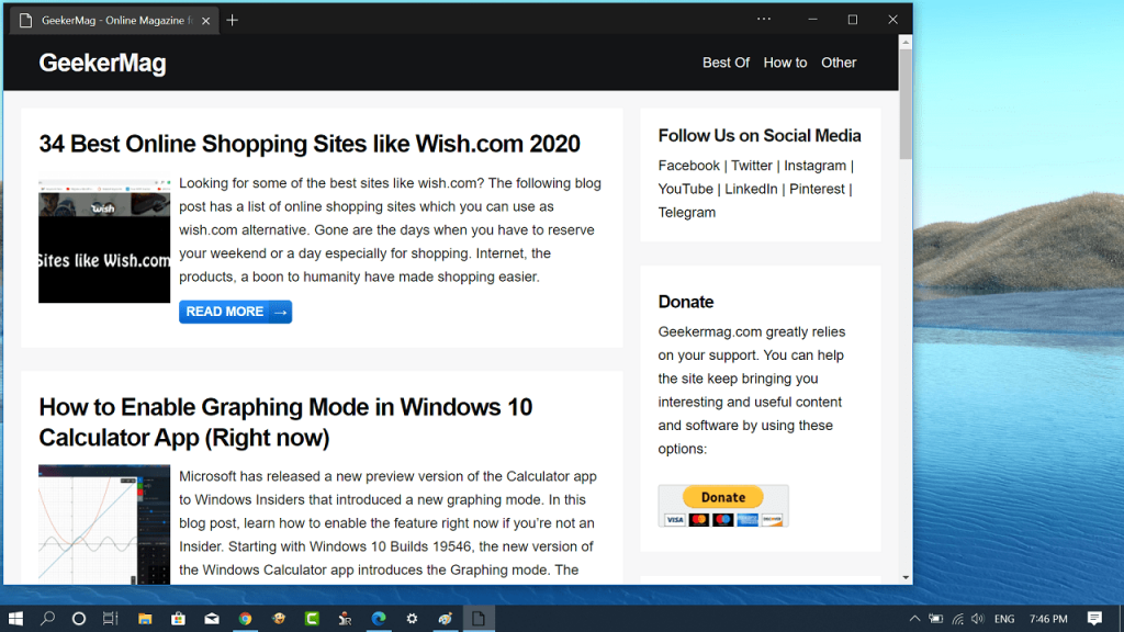 use focus mode in microsoft edge chromium