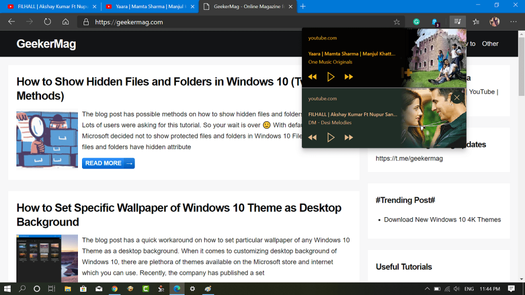 How to Enable Global Media Controls button in Microsoft Edge Chromium