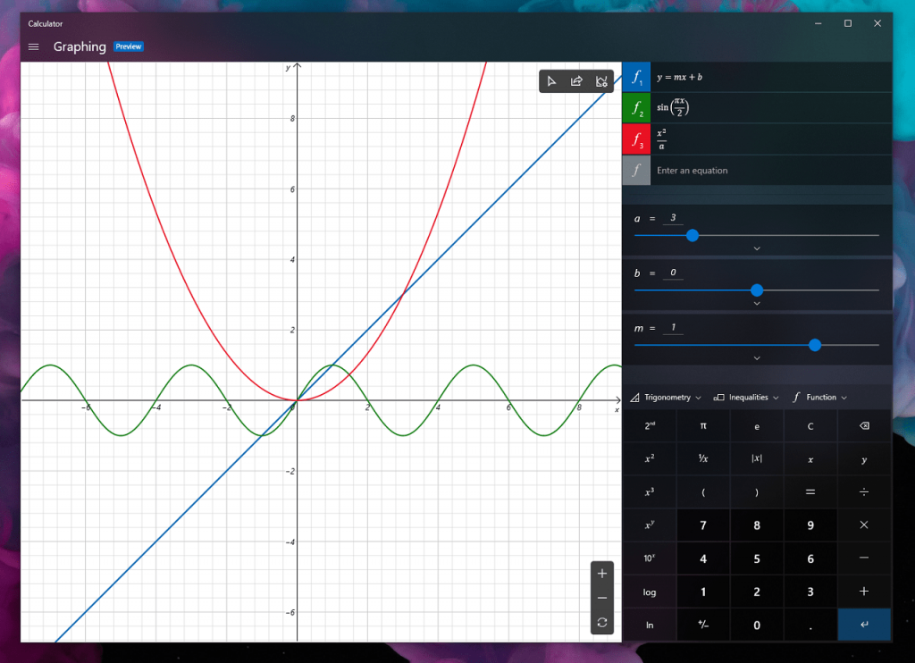 How to Enable Graphing Mode in Windows 10 Calculator App (Right now)