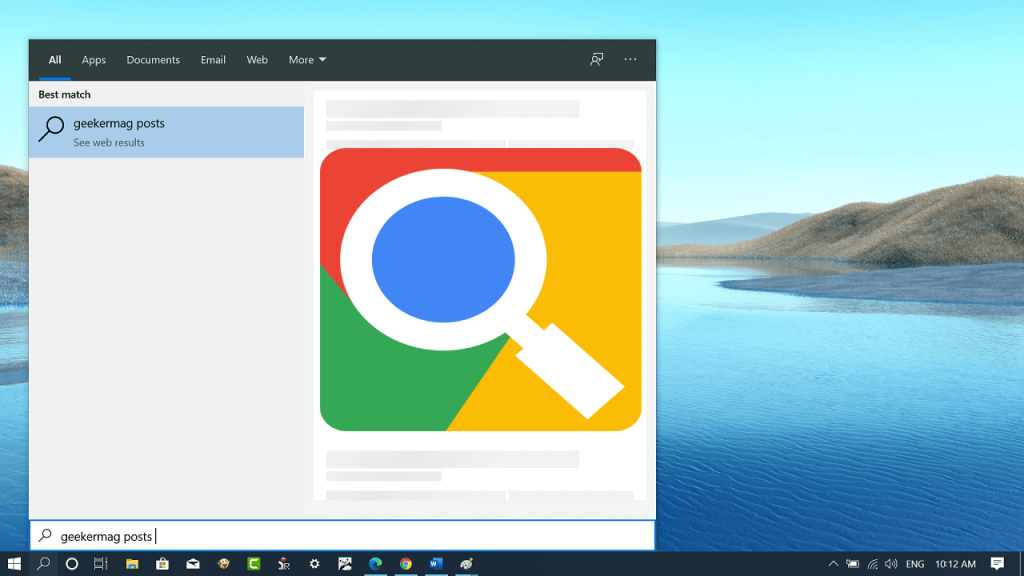 How to Make Windows 10 Start Menu search use Google instead of Bing