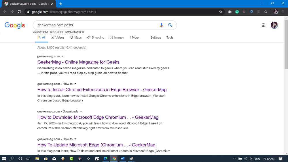 windows 10 start menu search using google for web searches