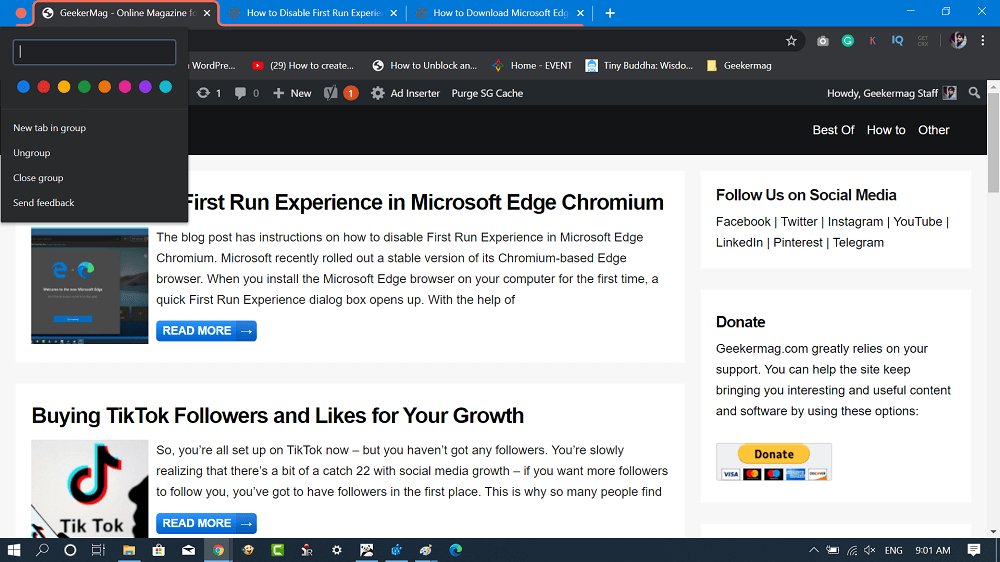 rename chrome tab and color chrome tab