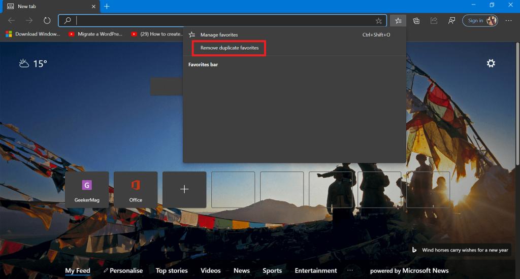 How to Remove Duplicate Favorites in Microsoft Edge Chromium