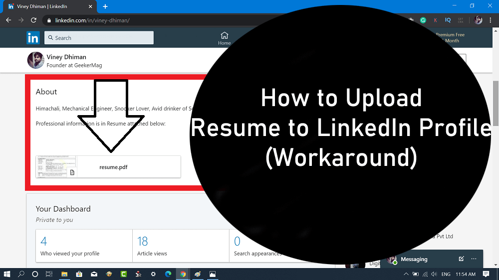 How to Add Resume on Linkedin Profile - 2020