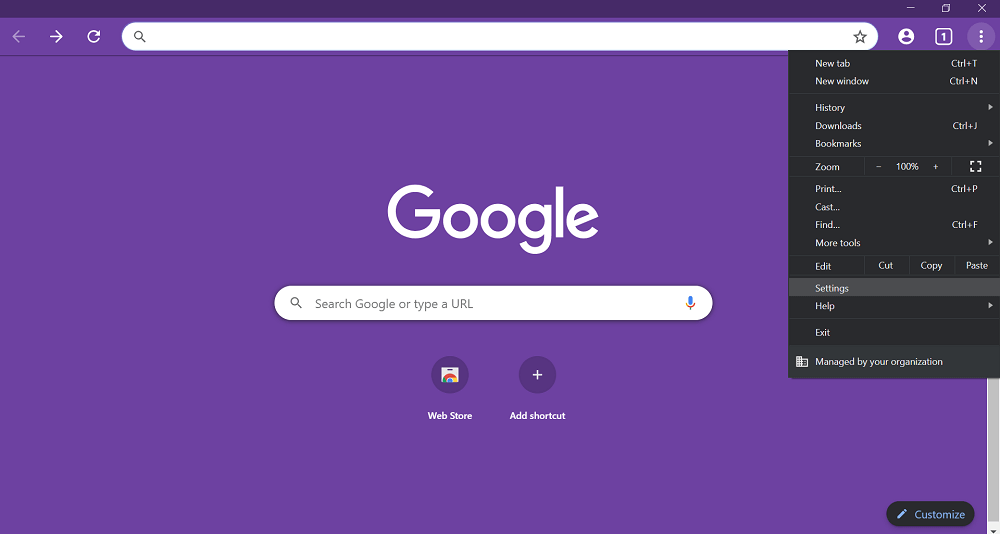 launch google chrome settings
