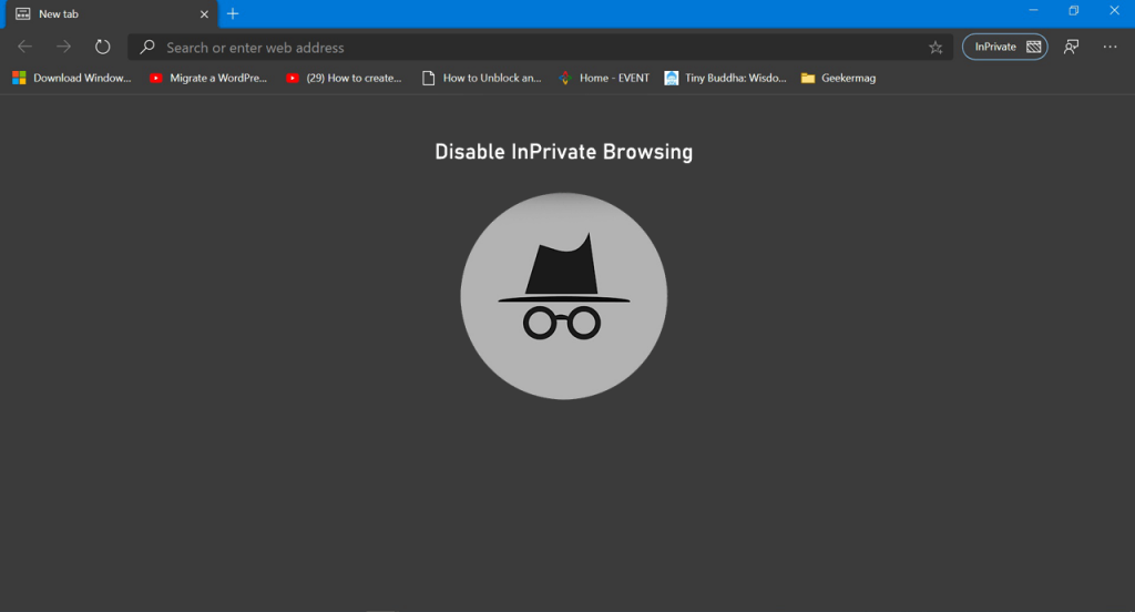 How to Disable Microsoft Edge InPrivate Browsing Mode in Windows 10