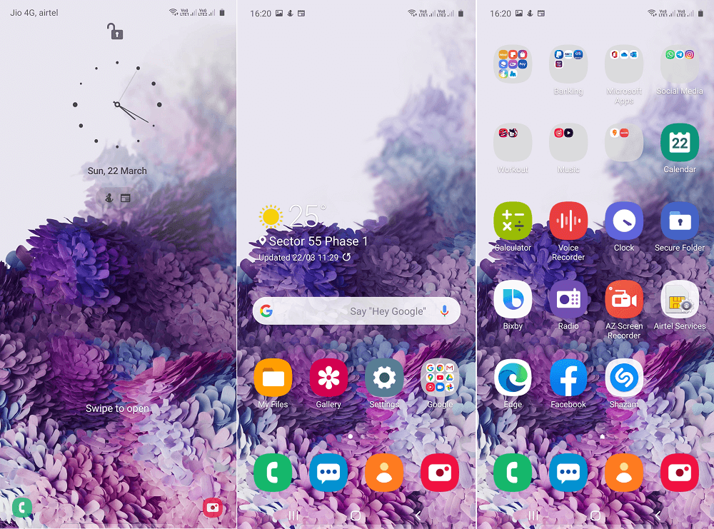 Use Samsung Galaxy S20 Wallpaper in Samsung Galaxy A51