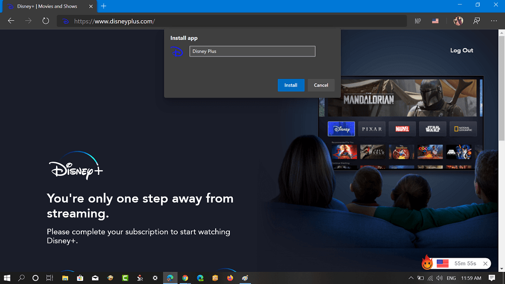 install disney plus app for windows 10