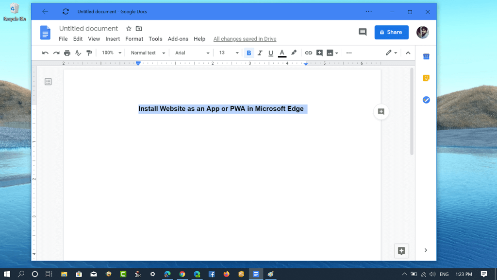 How to Install Website as an App in Microsoft Edge