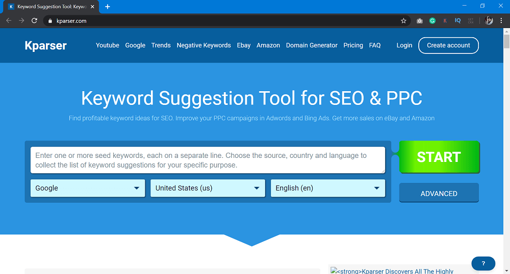Kparser - SEO Tools to Improve Website Ranking