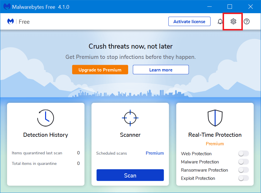 malwarebytes settings