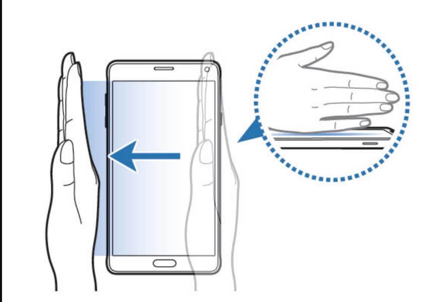 take screenshot in samsung galaxy a51 using palm gesture