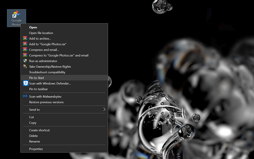 pin to taskbar 2
