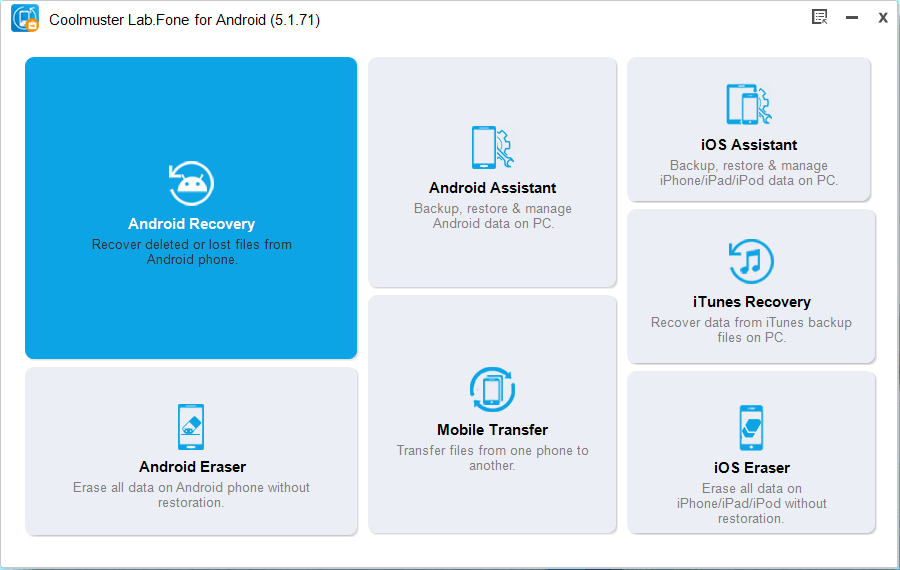 Recover your Phone Data using Coolmuster Lab.Fone