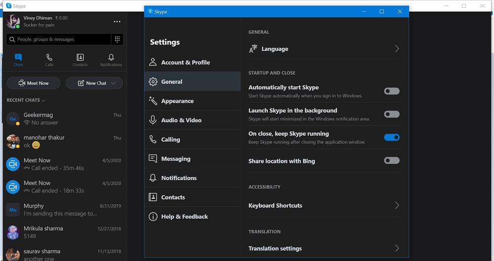 automatically start skype
