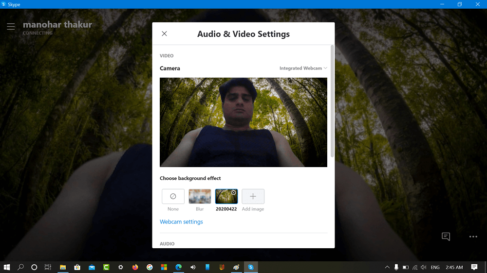 How to use custom background in skype video calls