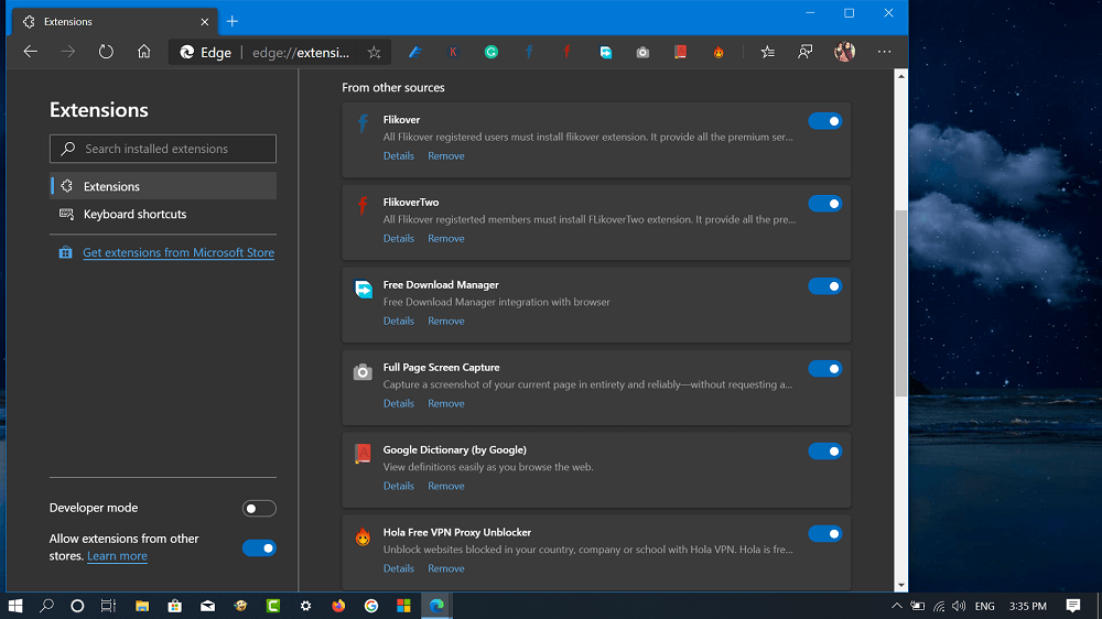 How to Import Microsoft Edge Legacy and Google Chrome Extensions into Edge Chromium