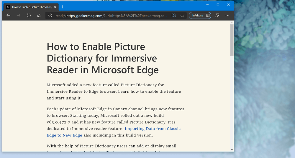 How to Use Immersive Reader Mode in Microsoft Edge (Reader View)