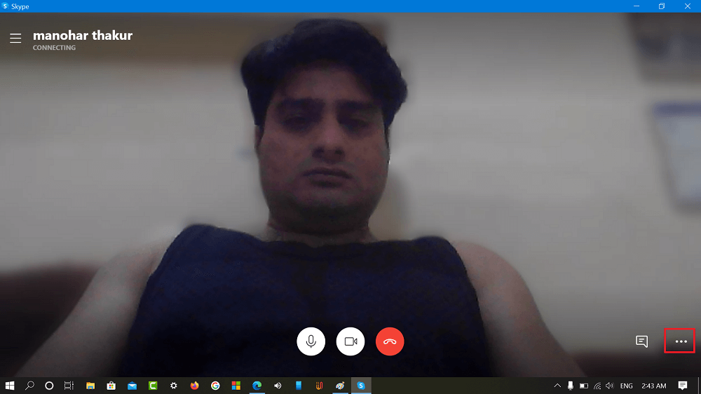 Skype more options