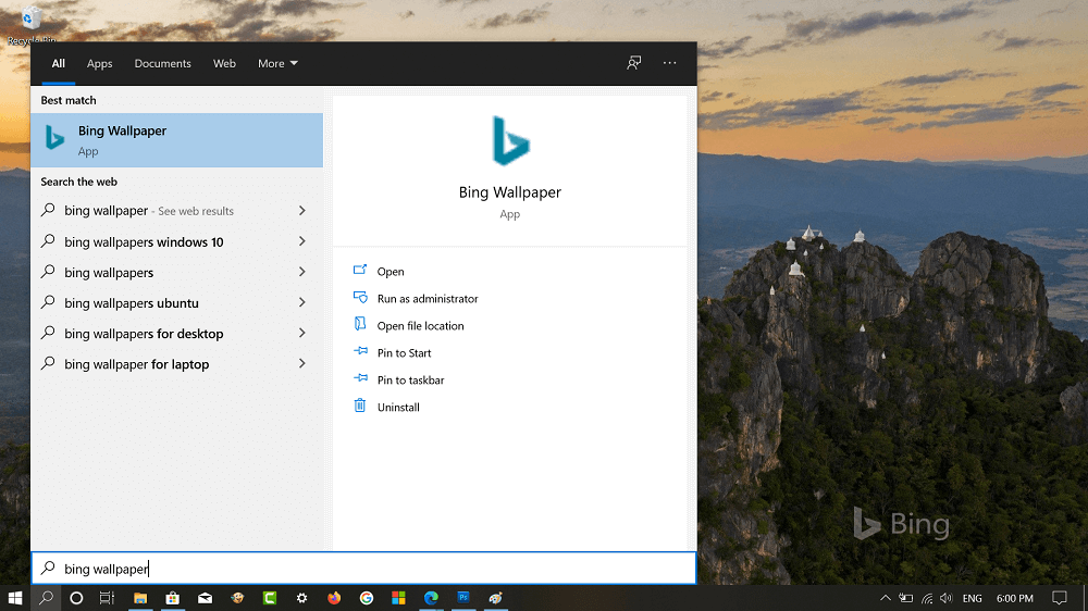 How to Set Bing Wallpapers as Desktop Background on Windows 10
