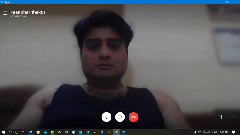how to blur the background in skype