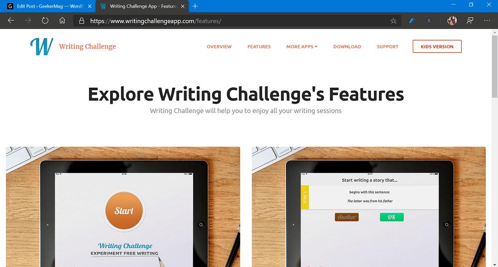 writing challenge