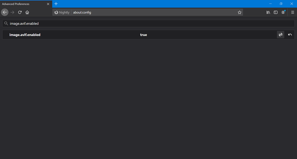 image.avif.enabled firefox preferences