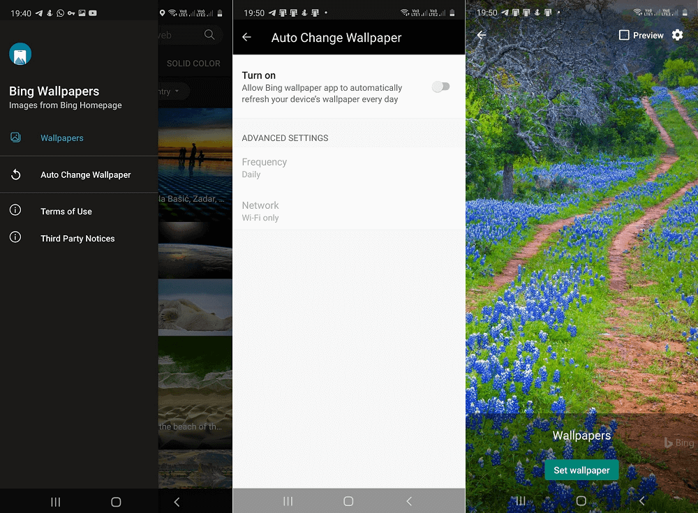 How to Daily Update Background on Android Phone using Bing Wallpapers