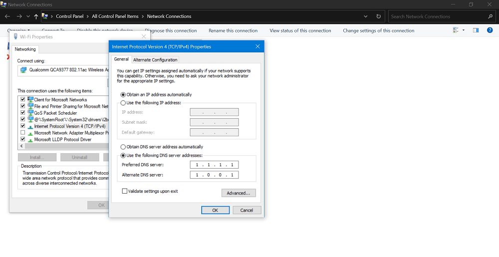 Fix – Google Chrome DNS_PROBE_FINISHED_NXDOMAIN Error