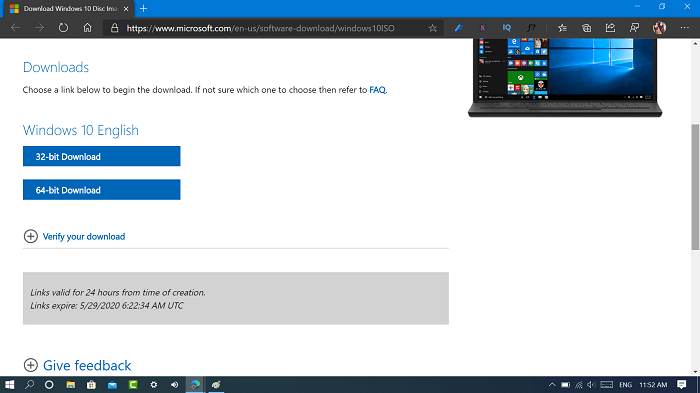 download windows 10 latest version iso from microsoft