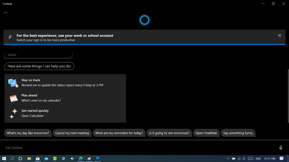 use new cortana app in windows 10