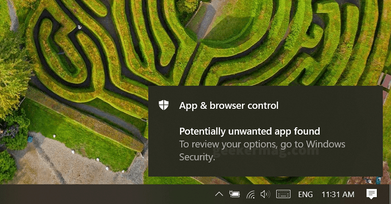Potentially unwanted app found in Windows 10