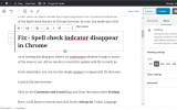 Fix - Spell check indicators (Red underline) disappearing in Chrome v81