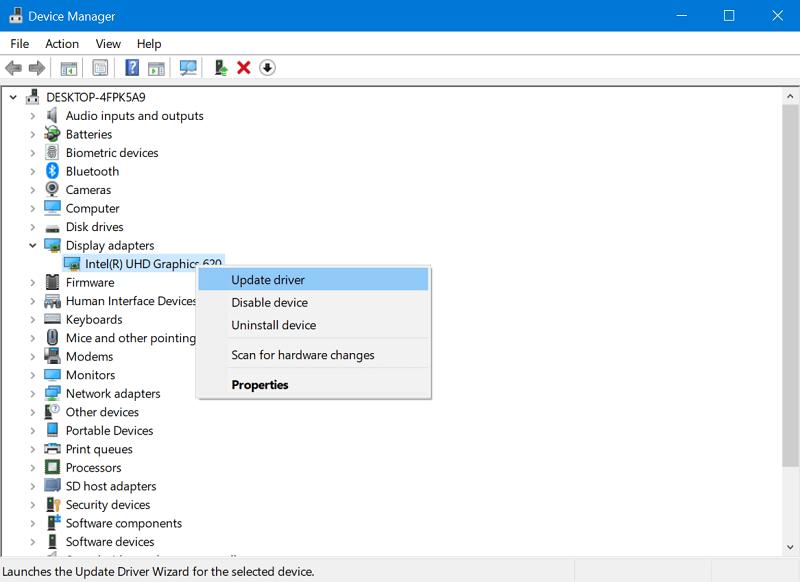 update display drivers