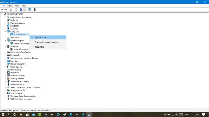 update drivers in windows 10