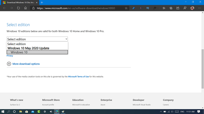 download windows 10 may 2020 update iso from microsoft