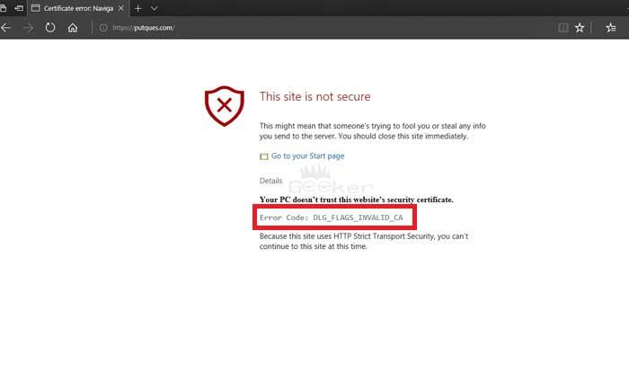 Error Code: DLG_FLAGS_INVALID_CA (Explained | Resolved)