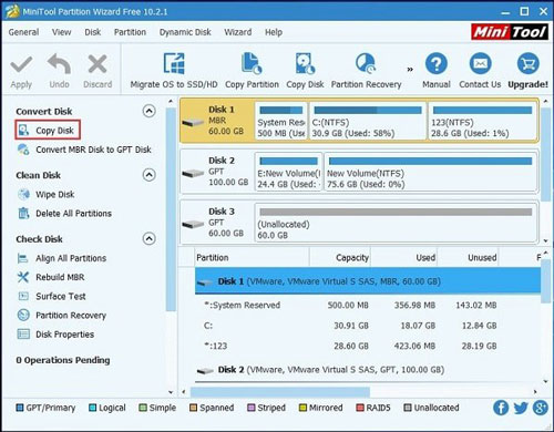 MiniTool Partition Wizard for windows 10