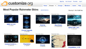 download rainmeter skins from customize.org