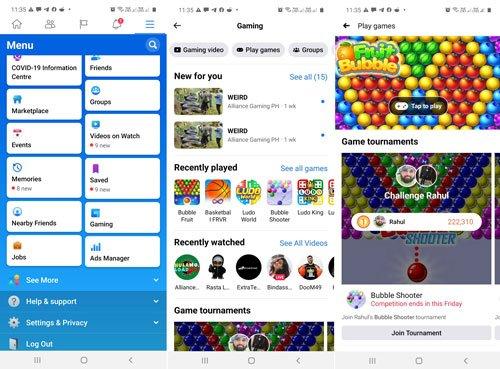 play facebook instant games on facebook app