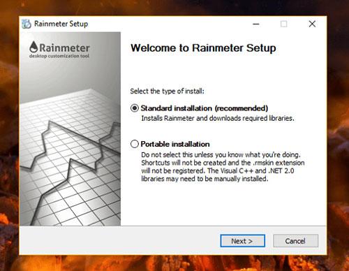rainmeter standard installation