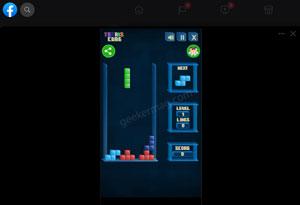 tetris - facebook instant game
