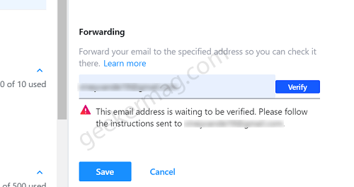 connect yahoo mailbox with gmail account